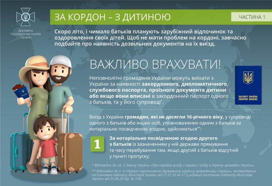 Виїзд дитини за кордон України: усе про необхідні дозвільні документи