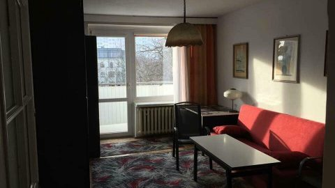 Квартира большая, двухкомнатная.Вроцлав