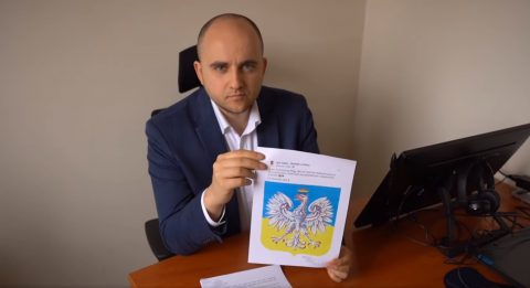 Український журналіст змінив польський герб та виклав його у соцмережу.Справаподана до прокуратури